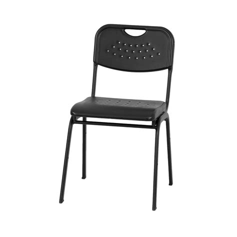 Hercules Plastic Stacking Chairs by Hercules 880lb Cap Plastic Stack Chair W Blk Powder Coated