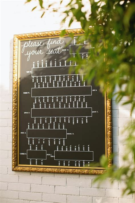 framed glass chalk reception seating chart elizabeth anne designs  wedding blog