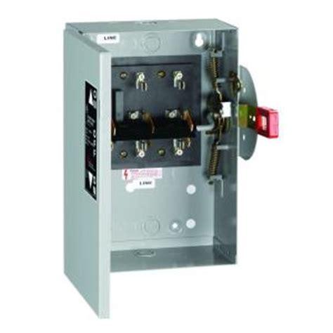 ge  amp  volt  fused indoor general duty double