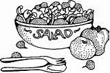 Salad Clip Coloring Fruit Onlinelabels Svg sketch template