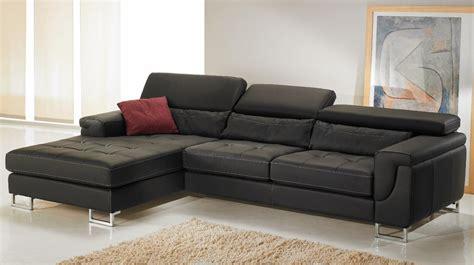 canapé cuire canapé d 39 angle gauche cuir noir pas cher