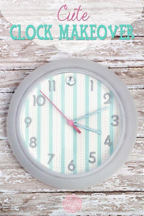 cute clock  scrapbook paper dollar store crafts