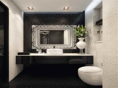 bathrooms mirrors ideas decoration black white bathroom with decorating mirrors