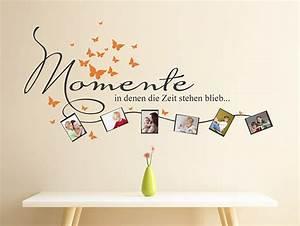 Schöne Momente Bilder : wandtattoo momente in denen die zeit stehen blieb mit fotorahmen ~ Orissabook.com Haus und Dekorationen