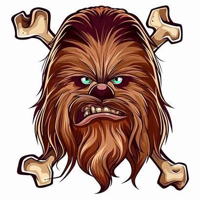Chewbacca Wars Star Clipart Wookie Sticker Transparent