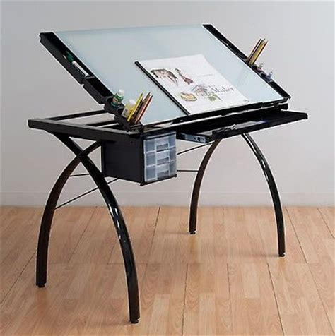 glass art desk home furniture design