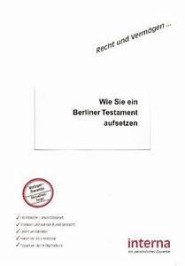 Testament Selbst Schreiben : wie sie ein berliner testament aufsetzen fachbuch ~ Eleganceandgraceweddings.com Haus und Dekorationen
