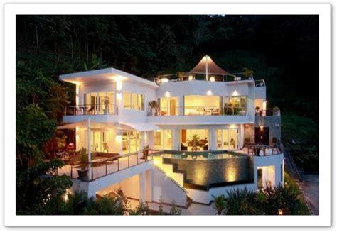 cuisine sur salon grande villa moderne en thaïlande