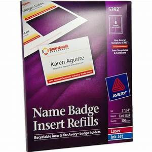 avery 5392 names badge insert refills 3 x 4quot nordiscocom With avery name badge template 5392
