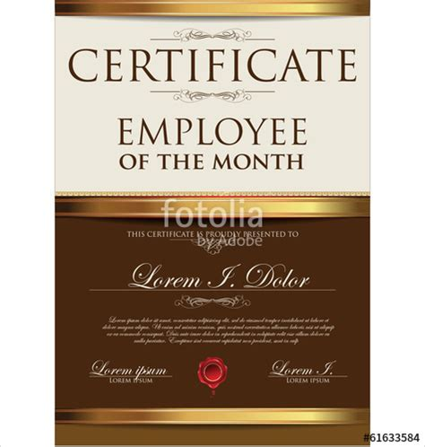 Employee Of The Month Certificate Template by Employee Of Month Certificate Template Driverlayer