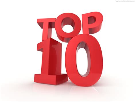 Top 10 And Top 100, Signs Psdgraphics
