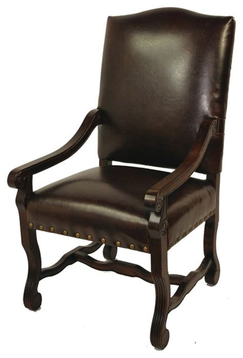 true leather high back arm chair burgandy dining chairs