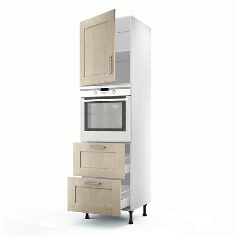 colonne cuisine leroy merlin meuble de cuisine colonne blanc 1 porte 2 tiroirs ines h