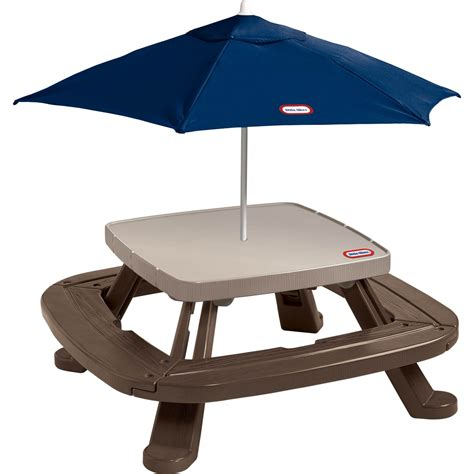 little tikes fold n store picnic table with market umbrella little tikes fold 39 n store picnic table with market