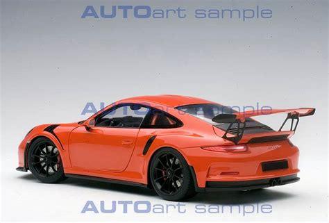 orange porsche 911 gt3 rs first look autoart porsche 911 991 gt3 rs lava orange