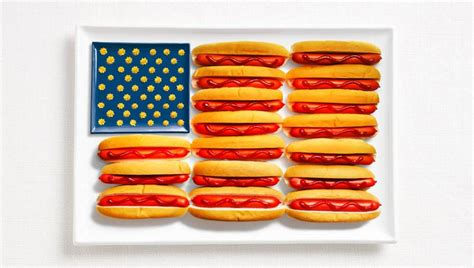 cuisine usa 18 national flags made from food twistedsifter