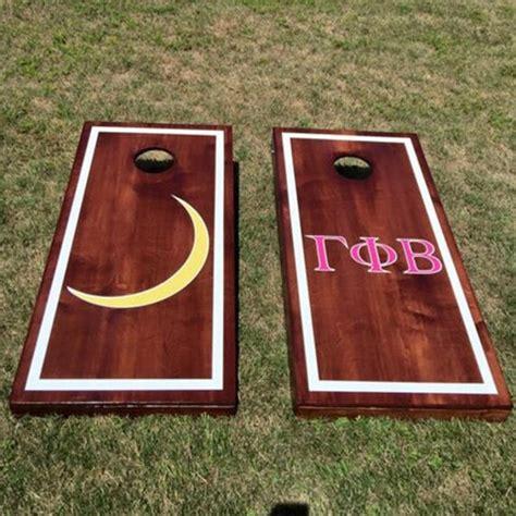 custom monogram wedding cornhole boards custom greek letters etsy