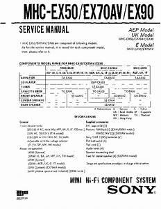 Sony Mhc-ex50  Mhc-ex70av  Mhc-ex90 Service Manual
