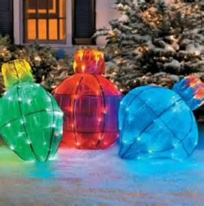 22 034 lighted christmas ornament bulb outdoor holiday yard sculpture decoration ebay