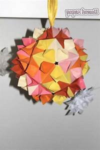 Cherry Blossom Kusudama Diagram Video Paper Kawaii