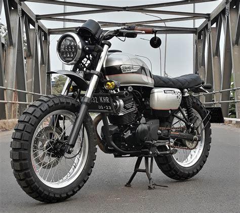 Kawasaki W175 Modified by Kawasaki W175 Scrambler By Insan Motor Bekasi Bikebound