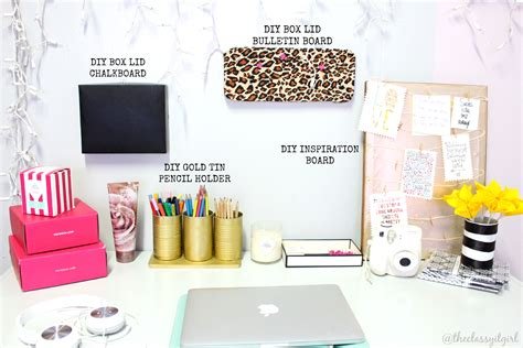 desk decor diy diy desk decor easy inexpensive the it