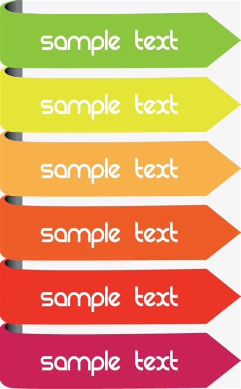 colored arrows box box vector text box vector png and