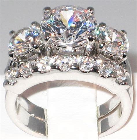 5 1 ct bold past present future cz bridal engagement