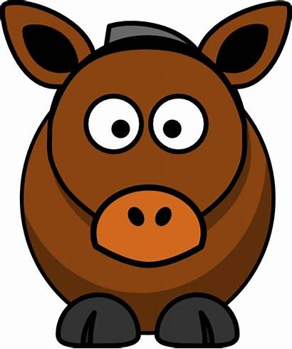 Donkey Cartoon Clip Clker Clipart Horse Funny