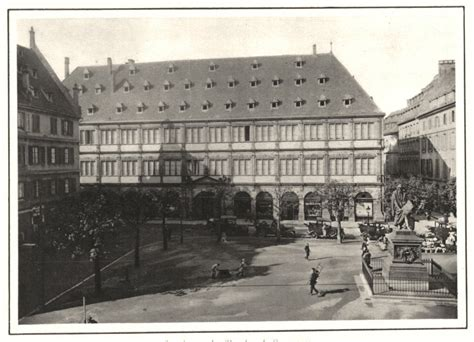 bas rhin strasbourg la chambre de commerce vintage print 1929