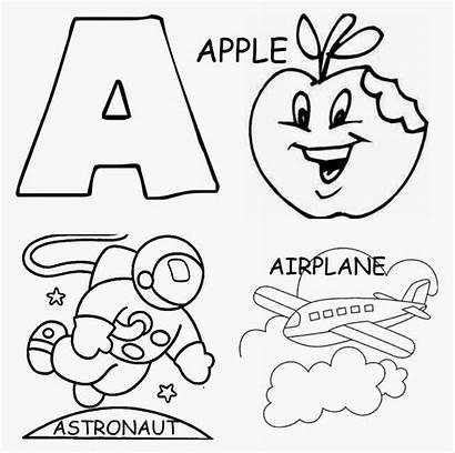 Letter Coloring Pages Printable Preschool Letters Kindergarten