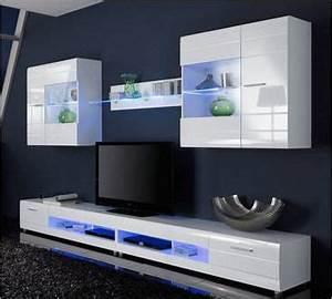 Meuble Tv Vitrine : ensemble mural 2 meubles hauts pinterest meuble haut meuble bas et meuble tv ~ Teatrodelosmanantiales.com Idées de Décoration