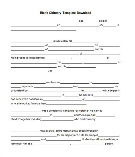 free obituary template free obituary template cyberuse