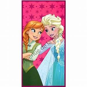Serviette De Plage Reine Des Neiges Drap De Bain Elsa Et Anna