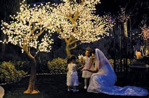 lighted trees willow branches flowers candles votives illuminated florals accessories
