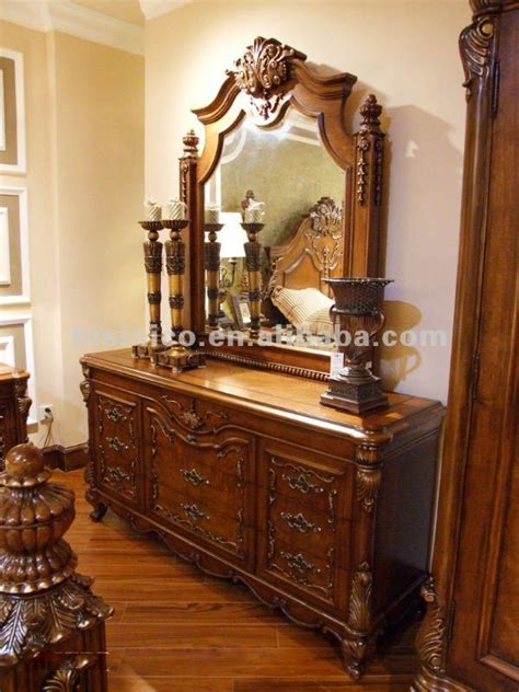 Antique Dresser,dressing Table And Mirror,wooden Hand