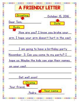 writing thoughtful friendly letter grades   mercy