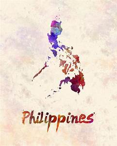 Philippines In Watercolor Painting by Pablo Romero