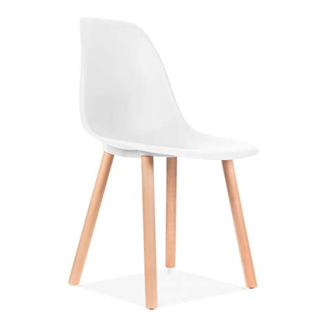 chaises transparente charles eames inspired copenhagen white dining chair cult uk