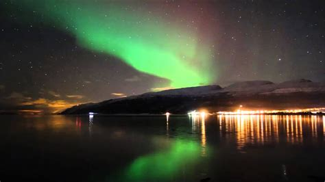 amazing northern lights timelapse shot   camera