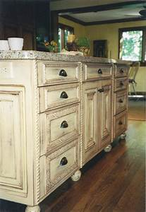 Traditional, In, Style, Distress, Kitchen, Island