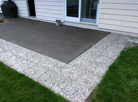 Cement Patio by Had Slab Cement Patio Painted Bronze Added