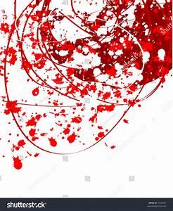 Red Paint Splatter Background Stock Vector Illustration ...
