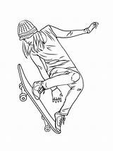 Coloring Skateboard Printable Mycoloring sketch template