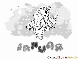 Januar Bild Schwarz Wei Ausmalbilder Monate Jahreszeiten