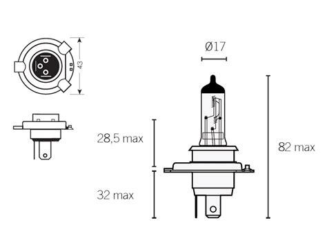 Headlight Bulb Halogen H4 P43t 12v 6055w