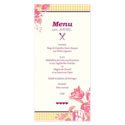 cuisine du bonheur fr la recette du bonheur menu de mariage vintage 224 fleurs