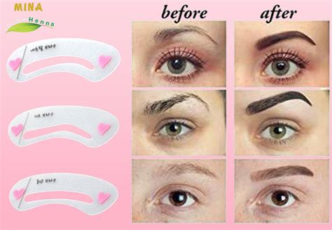 The price of eyebrows enhancer drawing guide card tool 3 styles reusable eyebrow stencil from china is based on the bulk order quantity. Eyebrow Grooming Stencils Kit | Eyebrow Grooming Stencils ...