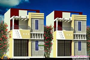 Kerala home design and floor plans row house design for Interior design in row house