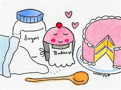 Sugar Baking Cartoon Baker Making Function Process